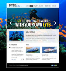 free website template diving club calendar booking template 5160