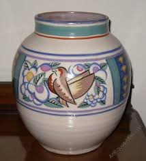 Deco Vase Antiques Atlas Poole Pottery Large Art Deco Vase