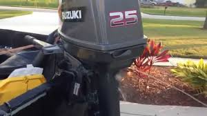 suzuki dt25 outboard engine running 25hp youtube