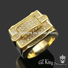 custom rings for men high quality custom aaa iced out gold ring jewelry for men