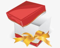 open gift gift box vector png image for free download