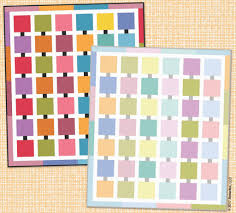 colour palette quilt pattern by benartex