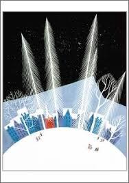 eyvind earle christmas cards vintage christmas card eyvind earle frameable blue