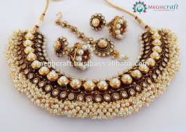 bridal indian necklace set images Indian ethnic jewellery one gram gold plated bridal necklace set jpg