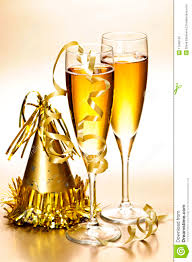 new years chagne glasses chagne and new years party decorations royalty free stock photo