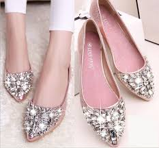 wedding shoes rhinestones size stock 2016 pink chagne wedding shoes silver pointed