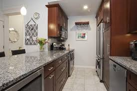 Kitchen With Brown Cabinets 23 Small Galley Kitchens Design Ideas Designing Idea
