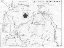 Three Sisters Springs Map Allegany State Park