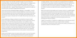 project management recommendation letter gallery letter samples