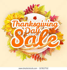 thanksgiving day sale headline template eps stock vector 524753191