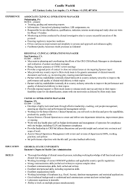 clinical manager resume clinical operations manager resume sles velvet