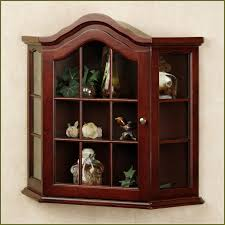 amusing kitchen wall mounted curio cabinet come with red wooden