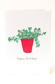 happy birthday succulent plant pot card https www etsy com uk