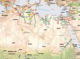 Africa On The Map by North Africa Pipelines Map Crude Oil Petroleum Pipelines