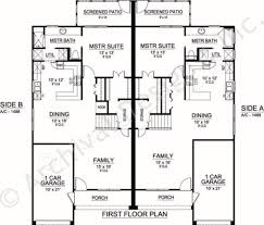 Duplex Floor Plans 3 Bedroom by Sanborn Duplex Luxury Floor Plans Texas Floor Plans