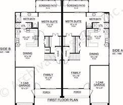 2 Bedroom 2 Bath Duplex Floor Plans by Sanborn Duplex Luxury Floor Plans Texas Floor Plans