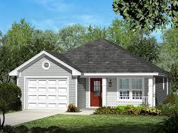 eplans ranch house plan u2013 narrow lot three bedroom u2013 1250 square