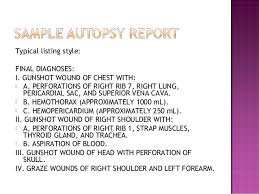 autopsy report template transcribing autopsy reports