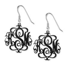 monogrammed earrings acrylic monogram earrings mynamenecklace