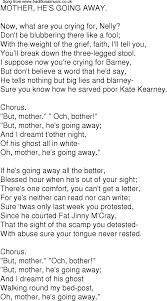 old time song lyrics for 04 mother hes going away