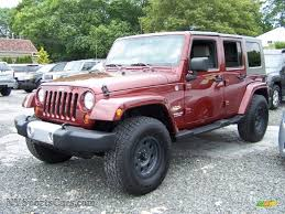 red jeep wrangler unlimited 2010 jeep wrangler unlimited sahara 4x4 in red rock crystal pearl