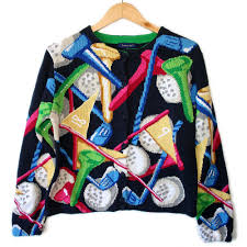 you ve gotta see these great tacky golf sweaters