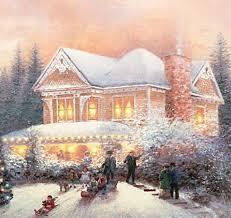 thomas kinkade lighted pictures thomas kinkade a victorian holiday illuminated canvas print