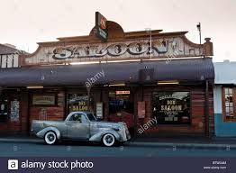 Vintage Ford Truck Australia - pub with ute or pickup truck outside alice springs northern