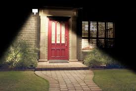 solar front porch light lovely motion activated solar security light real goods on front