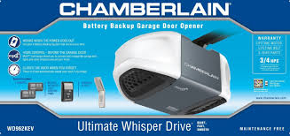 Battery Backup Garage Door Opener by Chamberlain Wd962kev Review