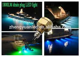 Boat Drain Plug Light Mass Color Changing Rgb Ip68 Marine Boat Led Light 27w Underwater