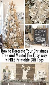 how to decorate your christms tree and mantle the easy way free