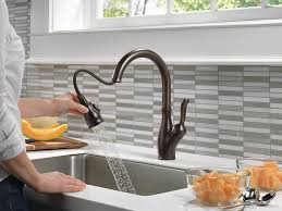 delta leland pull down kitchen faucet delta faucet 9178t rb dst leland single handle pull down kitchen