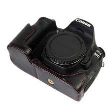 aliexpress com buy pu leather camera case half bag cover battery