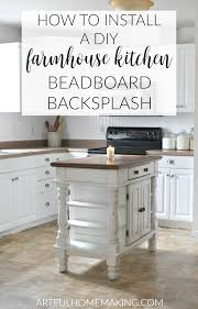 kitchen beadboard backsplash how to install a beadboard kitchen backsplash artful homemaking