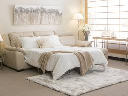 bed ideas pale ivory white leather queen size modern sleeper