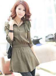 elastic waist blouse style ruffles elastic waist single breasted blouse