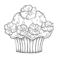 online coloring pages cupcakes 34 for line drawings with coloring