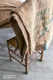 no sew burlap coffee bean sack sofa pillowsfunky junk interiors