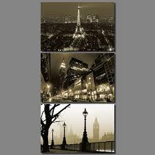 Eiffel Tower Garden Decor Modern City New York Dark Night Paris Eiffel Tower London Big Ben