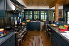 rustic kitchen furniture design trend blue kitchen cabinets u0026 30 ideas to get you started