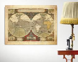 old world map nautical canvas antique sailing canvas world