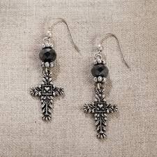 jim earrings jim shore cross earrings jim shore jewelry frannis online store