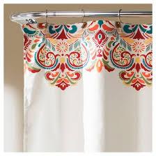 Burgandy Shower Curtain Clara Shower Curtain Turquoise Lush Décor Target