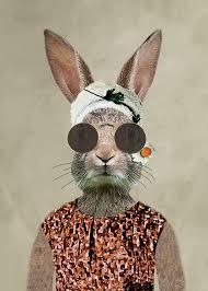 vintage rabbit vintage rabbit woman by coco de big hare y deal