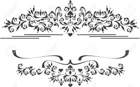 decorative ornament border graphic arts royalty free cliparts