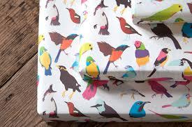 bird wrapping paper nobrow press tropical birds wrap 5 sheets