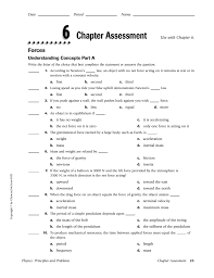 chapter assessment use with chapter 6