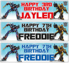 transformers birthday paper transformers party banners bunting garlands ebay