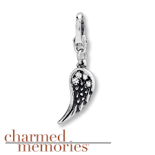 kay jewelers charms kay charmed memories angel wing dangle charm sterling silver